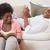 mutlu · çift · rahatlatıcı · birlikte · okuma · kitap - stok fotoğraf © wavebreak_media
