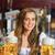 smiling oktoberfest barmaid with beer stock photo © wavebreak_media