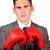 ビジネスマン · ボクシンググローブ · 白 · ビジネス · オフィス · 手 - ストックフォト © wavebreak_media