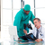 médicaux · médecins · xray · souriant · isolé · blanche - photo stock © wavebreak_media