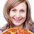 mutlu · kadın · pizza · beyaz · gıda - stok fotoğraf © wavebreak_media