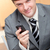 エレガントな · ビジネスマン · 書く · 携帯電話 · オフィス - ストックフォト © wavebreak_media