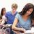 Porträt · jungen · Studenten · arbeiten · Zuordnung · Klassenzimmer - stock foto © wavebreak_media