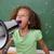 Porträt · cute · Schülerin · schreien · Megaphon · Klassenzimmer - stock foto © wavebreak_media
