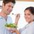 ev · kadını · koca · mutfak · mutlu · sağlık - stok fotoğraf © wavebreak_media