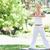 genç · kadın · yoga · park · spor · güzellik · yaz - stok fotoğraf © wavebreak_media