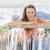 mooie · vrouwelijke · mode · ontwerper · rack · kleding - stockfoto © wavebreak_media