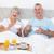 高齢者 · カップル · ベッド · 座って · 男 · 幸せ - ストックフォト © wavebreak_media