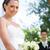 portré · menyasszony · vőlegény · áll · fal · boldog - stock fotó © wavebreak_media
