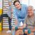 female therapist assisting senior man with dumbbells stock photo © wavebreak_media