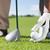 jogador · de · golfe · caixa · jovem · masculino · bola · oceano - foto stock © wavebreak_media