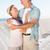 boldog · idős · pár · átkarol · móló · napos · idő · férfi - stock fotó © wavebreak_media