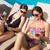 kadın · içecekler · yüzme · havuzu · iki · güzel - stok fotoğraf © wavebreak_media