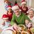 dede · şapka · tavuk · Noel · akşam · yemeği - stok fotoğraf © wavebreak_media