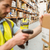 warehouse worker scanning barcode on box stock photo © wavebreak_media
