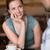 счастливым · сидят · кофейня · портрет - Сток-фото © wavebreak_media