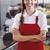 güzel · barista · gülen · kamera · kahvehane · iş - stok fotoğraf © wavebreak_media