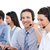 üzletemberek · beszél · headset · ügyfélszolgálat · számítógép · nő - stock fotó © wavebreak_media