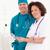 amistoso · enfermera · guapo · cirujano · azul - foto stock © wavebreak_media