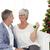 vergadering · sofa · kerstboom · jonge · gelukkig - stockfoto © wavebreak_media
