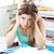 depresso · studente · compiti · per · casa · desk · scuola · pen - foto d'archivio © wavebreak_media