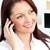 heldere · kaukasisch · zakenvrouw · praten · telefoon · mobieltje - stockfoto © wavebreak_media