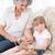 avó · ajuda · little · girl · feliz · trabalhar · criança - foto stock © wavebreak_media