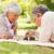 retrato · ancianos · Pareja · jugando · ajedrez · casa - foto stock © wavebreak_media