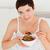 女性 · 朝食 · ベッド · 少女 · 笑顔 · 顔 - ストックフォト © wavebreak_media