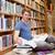 portrait · étudiant · recherche · compagne · lecture · bibliothèque - photo stock © wavebreak_media