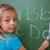 cute · Schülerin · schriftlich · Briefe · Tafel · Schule - stock foto © wavebreak_media
