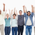 People raising their arms with the thumbs-up against white background stock photo © wavebreak_media