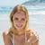 gyönyörű · szőke · nő · fehér · bikini · pózol · tengerpart - stock fotó © wavebreak_media