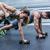 gespierd · paar · gewicht · samen · crossfit - stockfoto © wavebreak_media