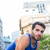 ハンサム · 選手 · ストレッチング · 市 · 健康 - ストックフォト © wavebreak_media