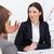 portret · aantrekkelijk · zakenvrouw · praten · team · kantoor - stockfoto © wavebreak_media