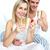 boldog · férfi · nő · ünnepel · eljegyzés · pezsgő - stock fotó © wavebreak_media