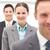 sikeres · üzleti · csapat · boldog · üzletember · előtér · három - stock fotó © wavebreak_media