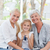 belo · família · olhando · câmera · casa · feliz - foto stock © wavebreak_media