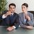 üzletemberek · tárgyal · tárgyalóterem · megbeszélés · üzletember · dolgozik - stock fotó © wavebreak_media