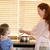 madre · hija · comida · junto · familia · alimentos - foto stock © wavebreak_media