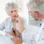 altos · hombre · hablar · femenino · médico · casa · de · retiro - foto stock © wavebreak_media