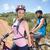 fitt · pár · biciklizik · felfelé · hegy · nyom - stock fotó © wavebreak_media