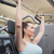 fit brunette using weights machine for arms stock photo © wavebreak_media