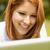 kadın · dizüstü · bilgisayar · kullanıyorsanız · açık · havada · yaz · bilgisayar - stok fotoğraf © wavebreak_media