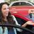 excited woman receiving car key stock photo © wavebreak_media