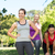 fitness group after jogging in the park stock photo © wavebreak_media
