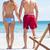 boldog · fiatal · pér · kéz · a · kézben · tengerpart · napos · idő · nő - stock fotó © wavebreak_media