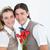 快樂 · 男子 · 提供 · 玫瑰 · 女朋友 · 微笑 - 商業照片 © wavebreak_media