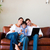 boldog · család · otthon · laptopot · használ · remek · számítógép · lány - stock fotó © wavebreak_media